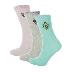 LOT DE 3 PAIRES DE CHAUSSETTES FILLE AVOCADO & COM