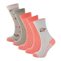 LOT DE 5 PAIRES DE CHAUSSETTES FILLE LOVE MY TECKEL